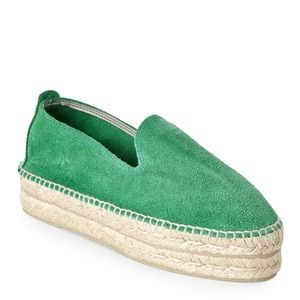 Manebi - Hamptons Suede Espadrilles in green
